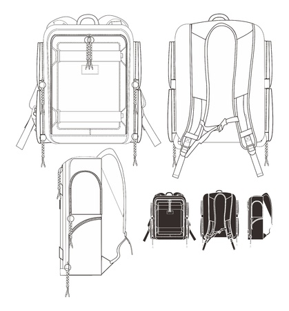 backpack set Vector