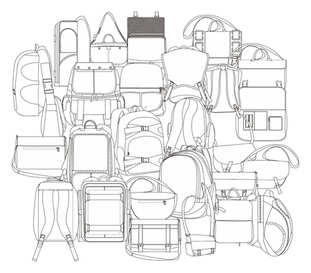 all backpack Vector