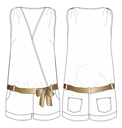 apparel set gold waist Illustration