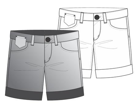pants short Stock Vector - 16060621