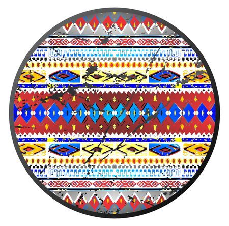 native art circle Illustration
