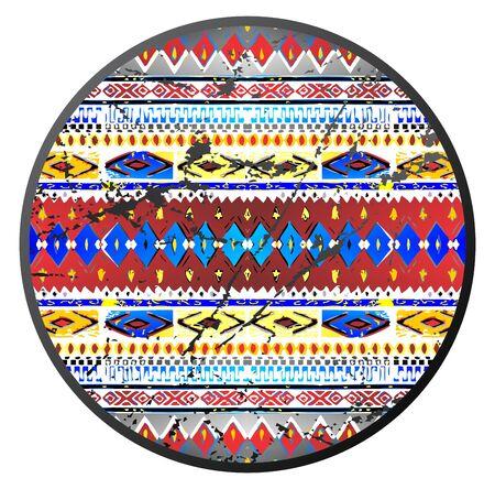 native art circle Illustration