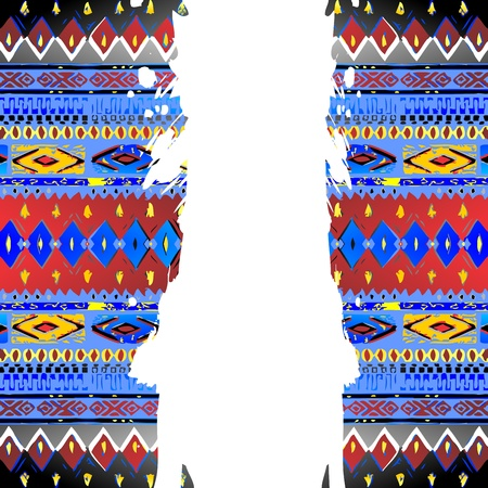 native art middle crack Vector