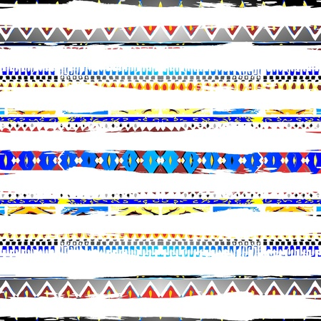 navajo: native art line Illustration