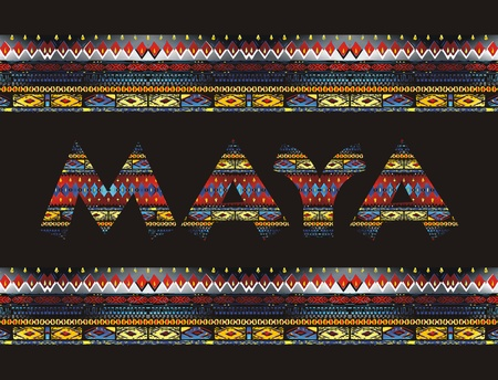 maya pattern Illustration