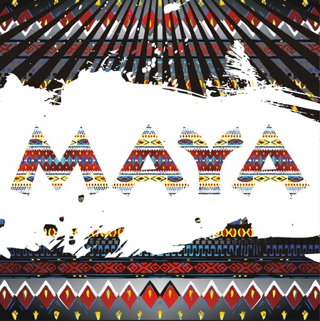 native vintage maya Vector