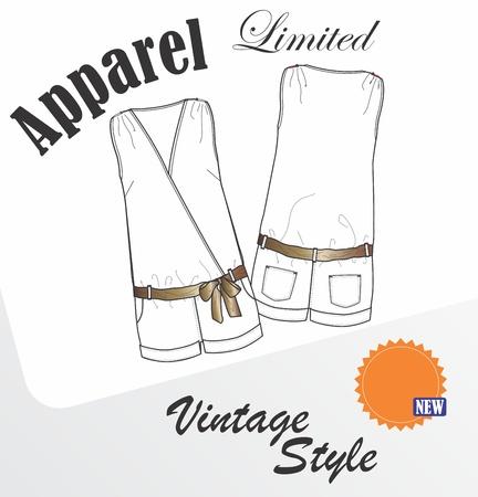 apparel girl style Stock Vector - 16060617