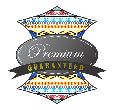 native vintage premium Vector