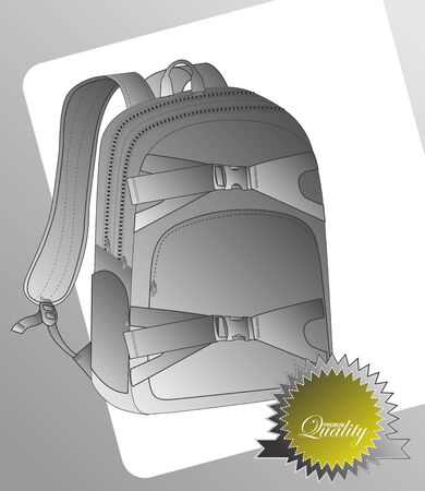 vintage backpack label deep Illustration