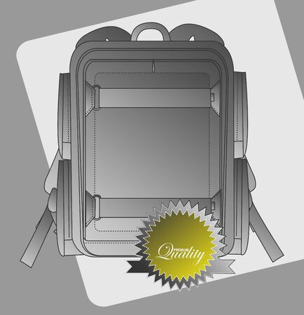 vintage backpack label Vector