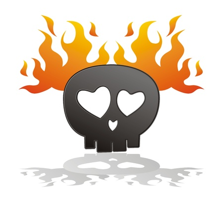 skull on fire Stock Vector - 15455134