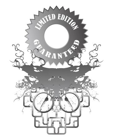 label grey Vector