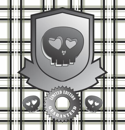label skull Vector