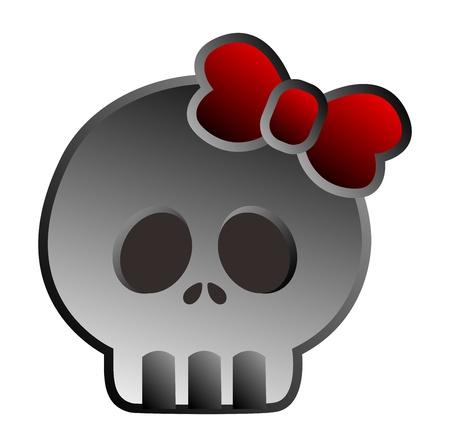 quartered: retro design skull