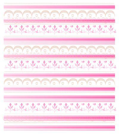 quartered: retro design pink