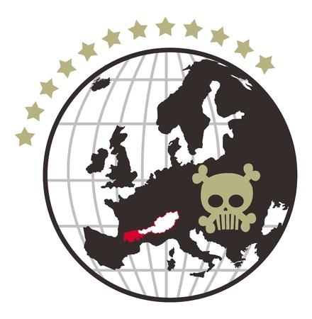 globe skull