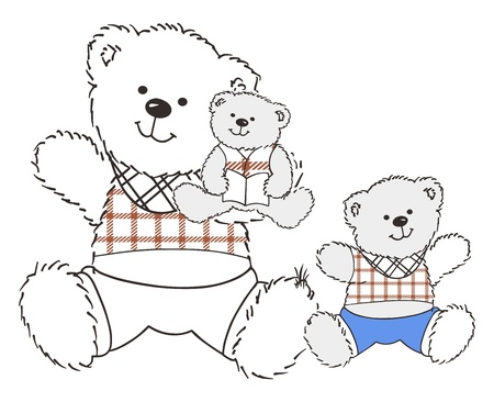 two bears Illustration