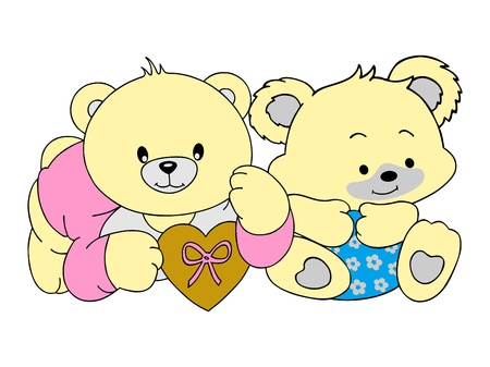 twin bear Vector