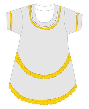 quartered: nice graphic for design dress Illustration