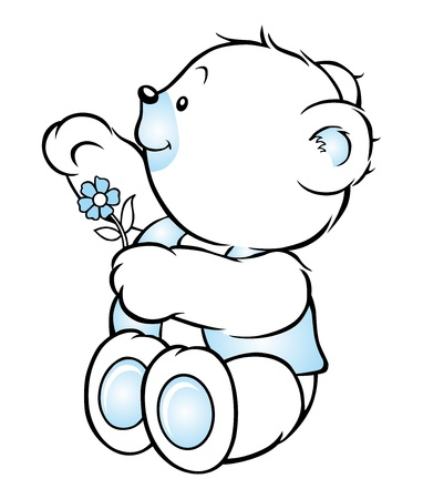 baby stickers: bear sweet wave