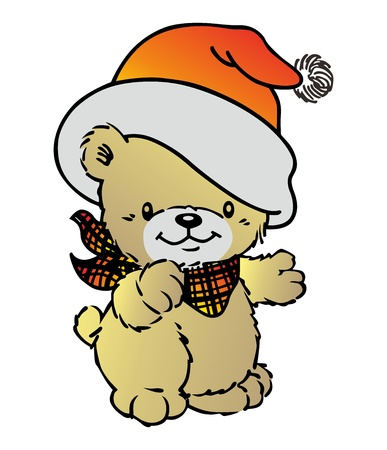 bear sweet hat Vector