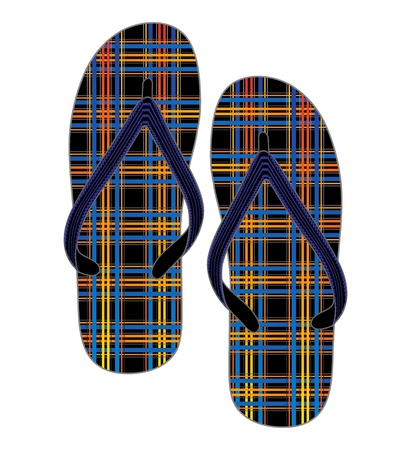 nice graphic for design slipper Stock Vector - 16971364