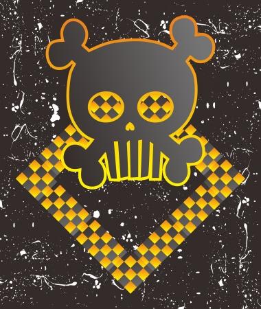 skull full art warning Stock Vector - 15982598