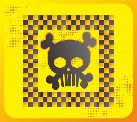 skull full art box Stock Vector - 15982586
