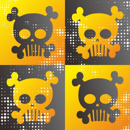 skull full art all Stock Vector - 15982588
