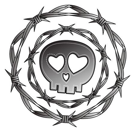 skull full art metal Stock Vector - 15982593