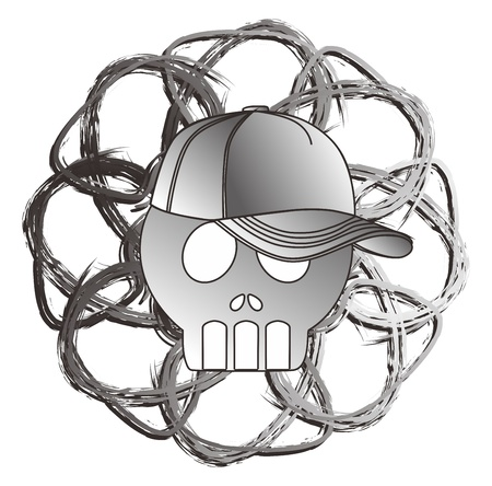 art skull of grey Stock Vector - 15982615