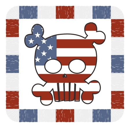 art skull of america Vector
