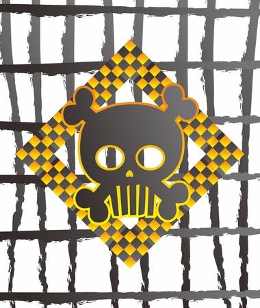 skull big time warn Stock Vector - 15982590