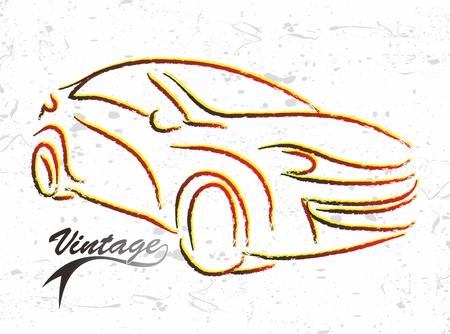car sketch sport Illustration
