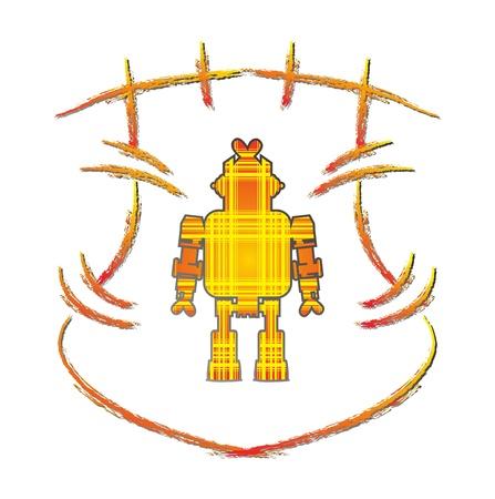 robot with shield: shield art robot