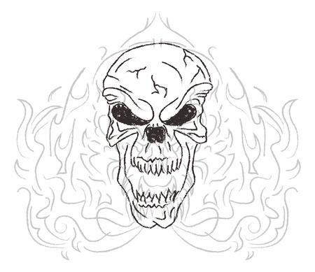 rampant: damn skull fire Illustration