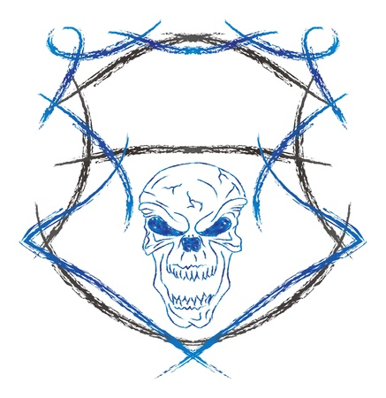 damn skull Stock Vector - 16144962