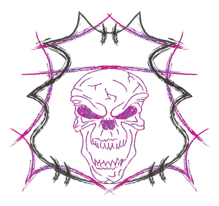 skull high evil purple Stock Vector - 16144963