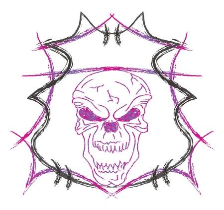 damnation: skull high evil purple