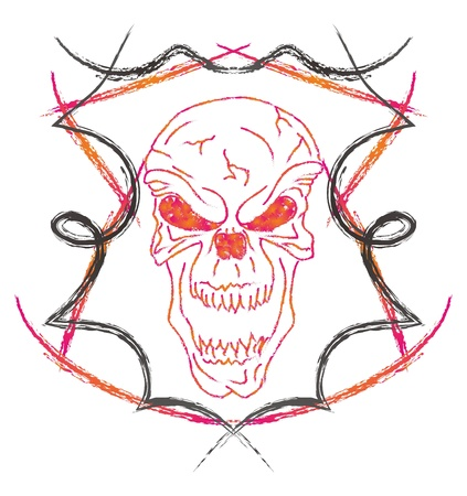 skull high evil red Stock Vector - 16144965