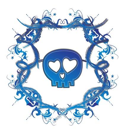 skull high evil blue dark Stock Vector - 16144931