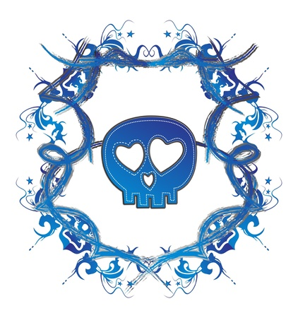 damnation: skull high evil blue dark