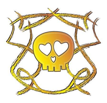 skull high evil gold Stock Vector - 16144926