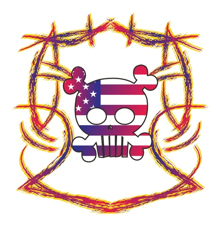 skull high evil cute Stock Vector - 16144932