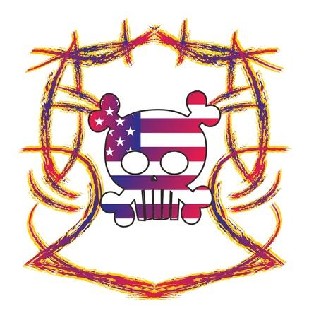 skull high evil cute Stock Vector - 16144932