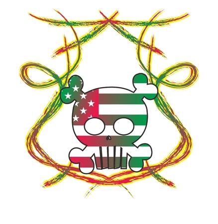 skull high evil blind Stock Vector - 16144924