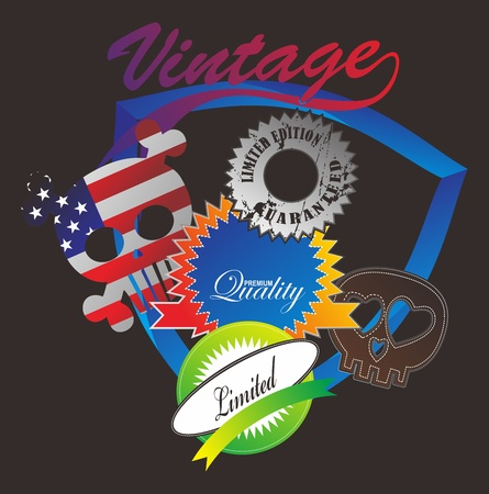 doodle vintage label Stock Vector - 16144905