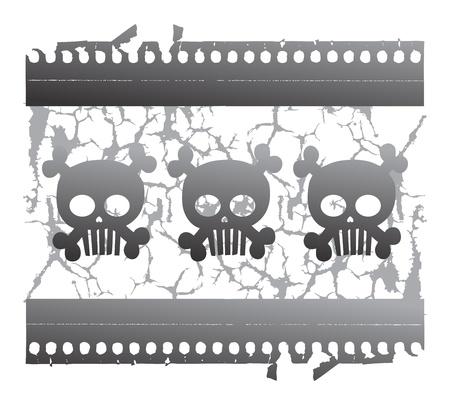 damnation: skull devil art three Illustration