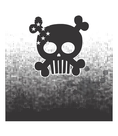 skull devil art dark Stock Vector - 16144908