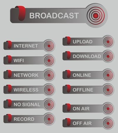 gibbose: button set web set